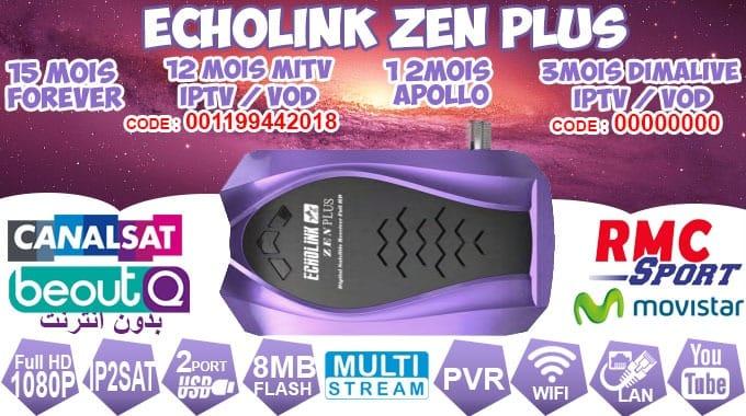 جديد بتاريخ 27/12/2018 ECHOLINK ZEN /ZEN PLUS الجديد APOLLO -QQ OK