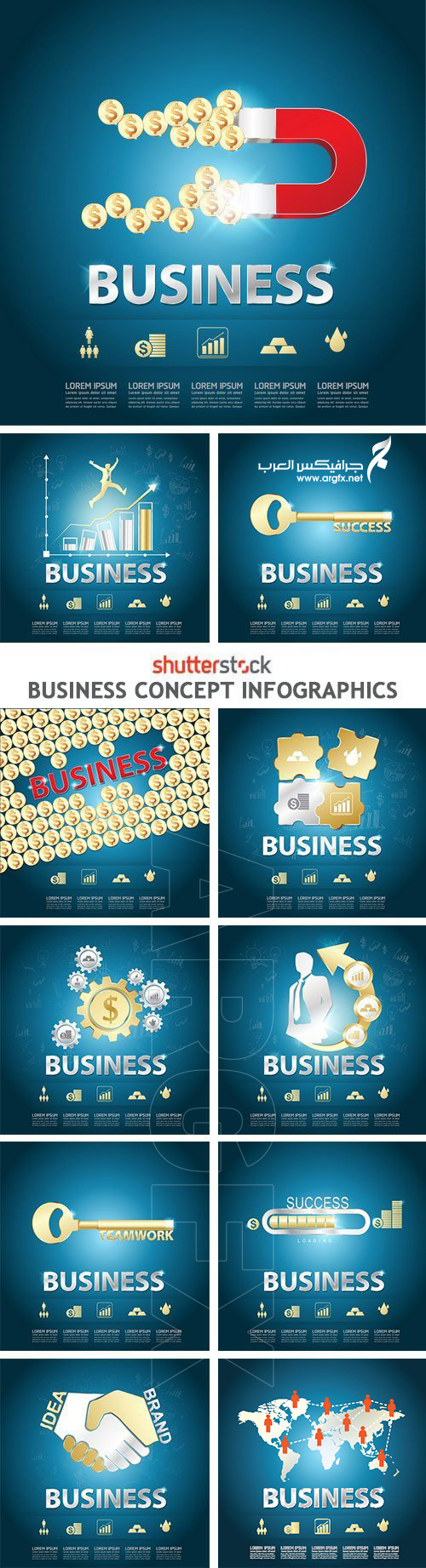 Business Concept Infographics - 25xEPS