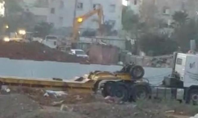 المنزل الذي هدمته جرافات الاحتلال في الرملة
